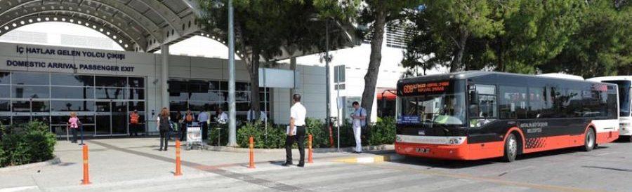 автобус из аэропорта Анталии на автовокзал через центр города
