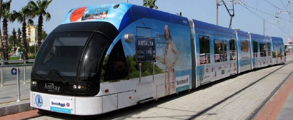 в аэропорт Анталии на трамвае быстро и дешево