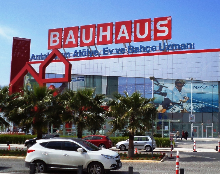 стройматериалы магазины BAUHAUS все для дома и отдыха, торговый центр в Анталии
