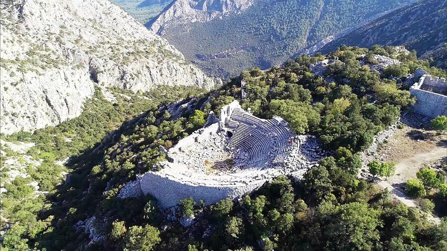 Termessos римский театр на вершине горы